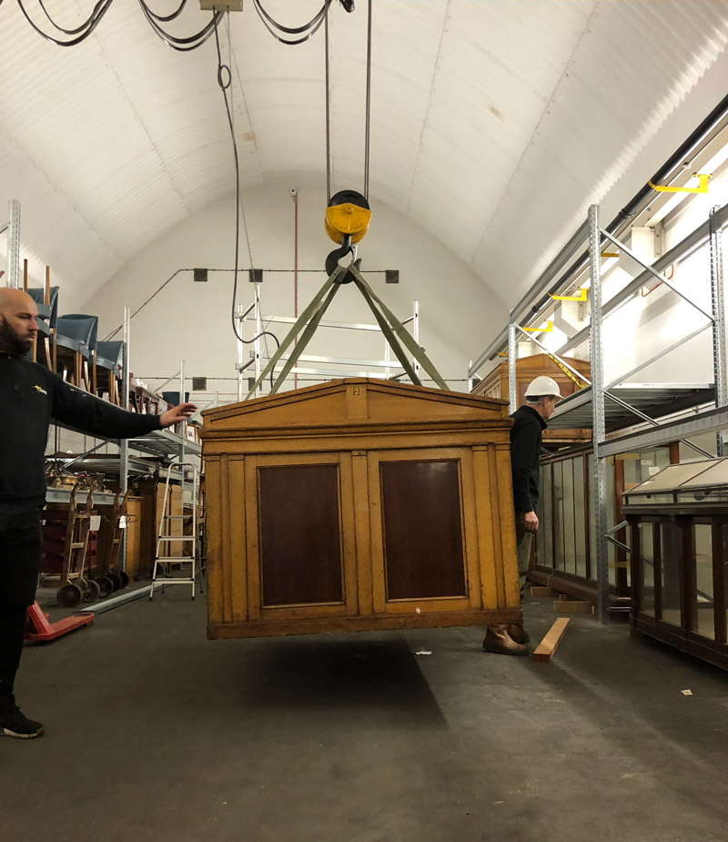 Re Use In Action Mahogany Museum Cabinets Retrouvius Reclamation
